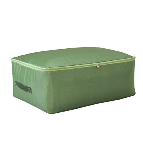 KR hongda Huishoudelijke Quilt Opbergtas Verpakking Doos Met Handvat Kleding Opbergdoos Tas Tas Koffer Opbergtas M 55x35x20cm Groen