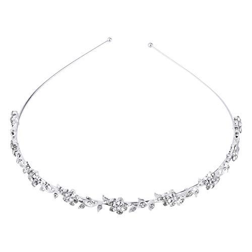 NUOLUX boda para mujer de flores y hojas de cristal de diseño de corona linina Tiara Suite