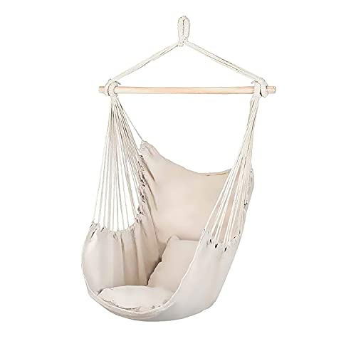 Piuma – Silla suspendida con kit de anclaje al techo, sillón suspendido, balancín colgante con 2 cojines – Carga máxima 120 kg