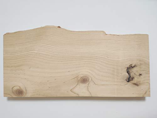 CARPIVIL CARPINTERIA Estante Flotante de Madera Maciza de Pino con la Forma del Tronco del árbol. Largo 59cm, Ancho aproximado 20cm y un Grosor de 4cm. Tu Estante de Madera a Medida.