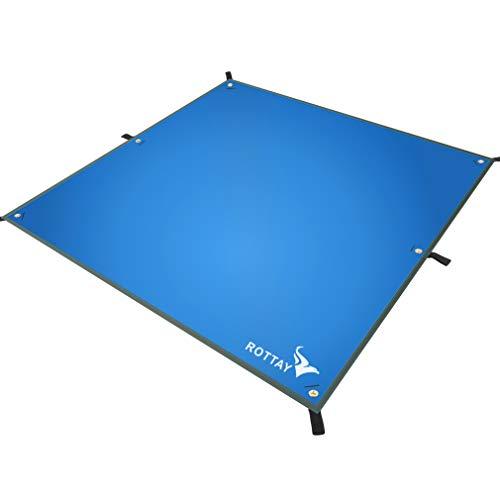 Rottay Waterproof Camping Tarp, Lightweight Hammock Rain Fly Sunshade, Tent Footprint Backpacking Tarp for Camping, Hiking and Outdoor Activities