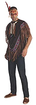 Rubie s Heroes And Hombres Men s Native American Costume Poncho Brown X-Large