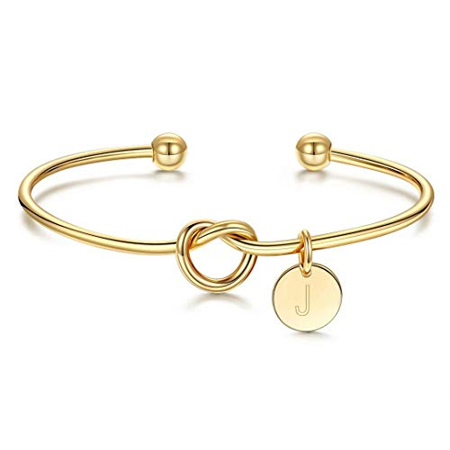 Bridesmaid Proposal Gifts, Gold Tie the Knot Bridesmaid Bracelet with...