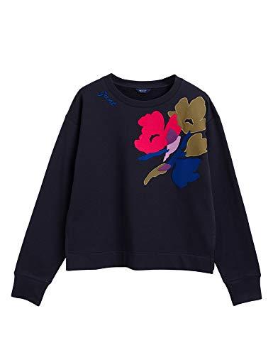 GANT Women's Sweatshirts Relaxed Fit Blue in Size Medium