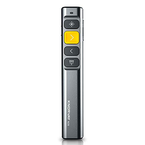 KNORVAY N28 Laserpointer Präsentation mit 4 Hotkeys, einfach zu bedienen, 2,4 GHz Wireless Presenter Remote 330 FT Control Range, Unterstützung Hyperlink Key-Customized Funktion