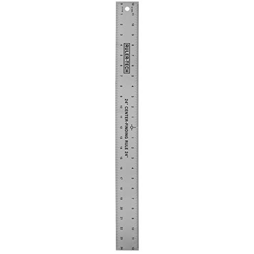 "Stainless Steel Center Finding Ruler. Ideal for Woodworking, Metal Work, Construction and Around The Home (24"" Ruler)"