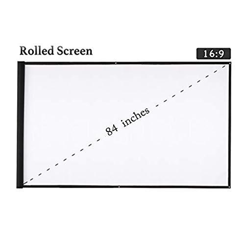 NBWS Beamer doek 84 inch (185 cm * 105 cm), voor thuis en op kantoor --- film en presentatie (professioneel) ondersteuning 3D/4K/8K/1080p/HD,16: 9
