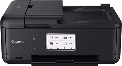 Canon PIXMA TR8550 Drucker Farbtintenstrahl Multifunktionsgerät All-in-One DIN A4 (Scanner, Kopierer, Fax, WLAN, LAN, ADF, Apple Airprint, Print App, 2 Papierzuführungen, Duplexdruck), schwarz