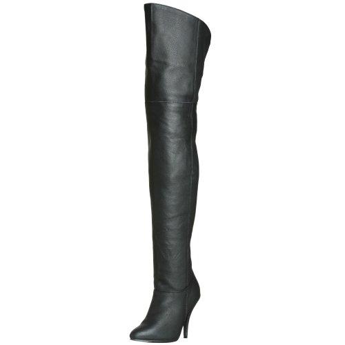 Pleaser Damen LEGEND-8868 Kurzschaft Stiefel, Schwarz (Schwarz (Blk Leather (P), 40 EU