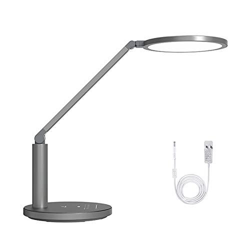 Lámpara de escritorio para sala de oficina Lámpara de escritorio de la lámpara táctil de la lámpara de la lámpara de la lámpara del enchufe de 18W, la luz de la noche, la lámpara de lectura para la of