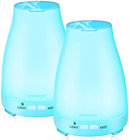 Essential Oil Diffuser 2 Pack Max 200 ML Ultrasonic Cool Mist Humidifiers BPA Free Aromatherapy product image