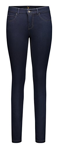 MAC Damen Straight Leg Jeanshose Dream Skinny, Blau (dark rinsewash D801), Gr. W30/L28 (Herstellergröße: 00/28)