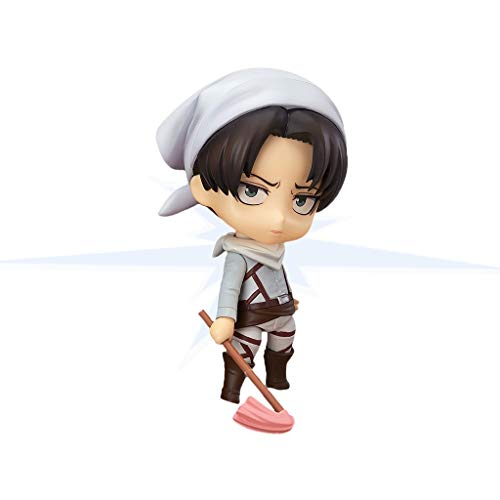 Yuqianjin Attack On Titan/Levi Ackerman Model(Action Figure) Cute and Cool Version Anime Peripheral Doll Model, Toy Statue Model Desktop Decoration, PVC Collection Craft Decoration Gift