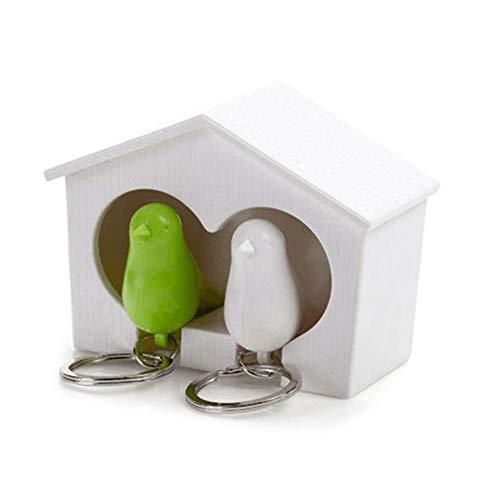 Faviye Vogelhuisje sleutelhouder Creative Vogel huis Keychain Anti-Lost-apparaat voor thuis