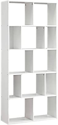 Mainstays Home 12 Shelf Bookcase White 12 Shelf White Furniture Decor