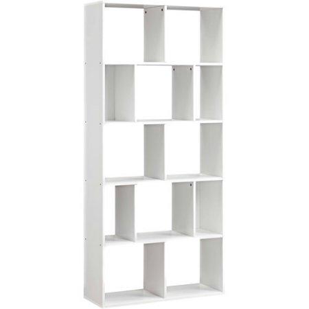 Mainstays Home 12-Shelf Bookcase (White) (12-Shelf, White)