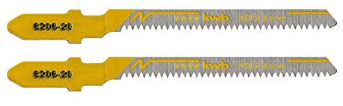 KWB 620620 - Dos hojas de sierra de calar para madera 77/50 corte curvo KWB PRO