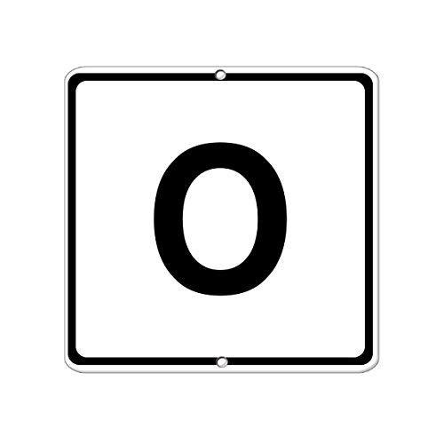 Kysd43Mill Buchstabe O Business Großes Buchstaben & Zahlenschild, lustiges Metall-Warnschild, für Hausdekoration, Hinweisschild, Garage, Hof, 20,3 x 30,5 cm