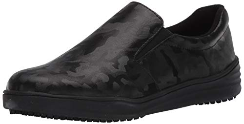 Spring Step Professional Women's WAEVO Uniform Dress Shoe, Black, 7.5 Wide US
