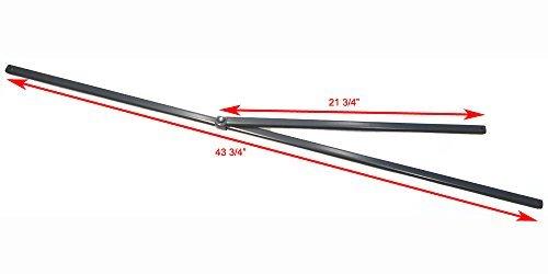 Coleman 10x 10instantánea sol refugio toldo & swingwall-lower pico Barra de Truss 433/4'piezas de repuesto