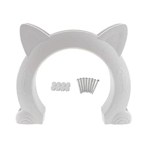 Puerta del animal doméstico para gatos para gatos Puerta interior incorporada en el interior Puerta de mascota para pequeños, medianos y grandes. Pass de orificio de gatos se adapta al núcleo hueco
