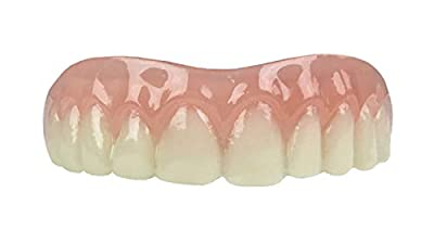 Professional Cosmetic Upper - New from Instant Smile! Hand crafted detail, custom fit at home! Works Best in Medium to Large Sized Mouths.
