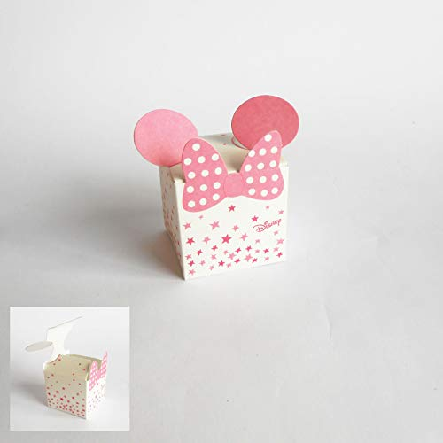 Bomboniera Scatola cubo Confetti Minnie Disney Rosa set 20 pz art 68063