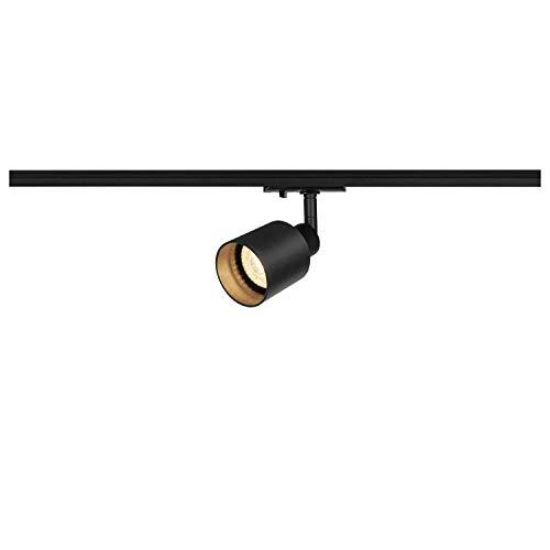 SLV 1 Phasen System Leuchte PURI TRACK SPOT / Strahler, LED-Spot, Decken-Strahler, Decken-Leuchte, Schienensystem, Innen-Beleuchtung / GU10 10.0W schwarz