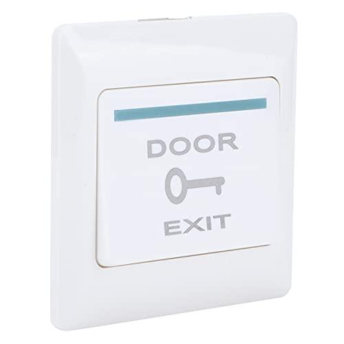 Botón de salida, sistema de control de acceso Material de PC Botón de apertura de puerta Soporte de pared elástico ignífugo para comunidades para oficinas