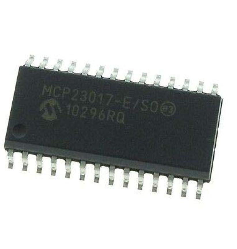 FidgetGear 10 PCS MCP23017 MCP23017-E/SO IC I / OエクスパンダI2C 16ビット28SOP新機能