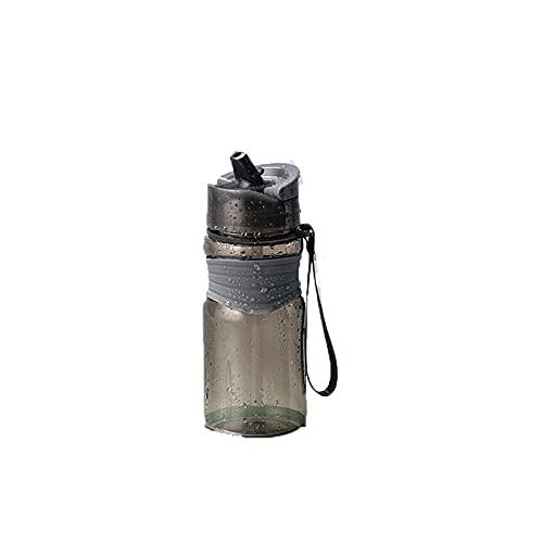 Jituan Taza de agua para niños de plástico moderna y simple botella de agua sellada para estudiante Copa de agua al aire libre conveniente a prueba de fugas taza de agua deportiva (500 ml)