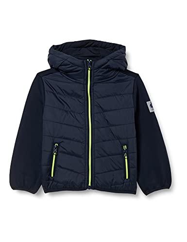 SALT AND PEPPER Baby-Jungen Hybridjacket Boy Hood Jacke, Navy, 80