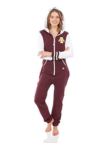 Zipups Mono-Pijama Team Spirit Burdeos/Blanco L