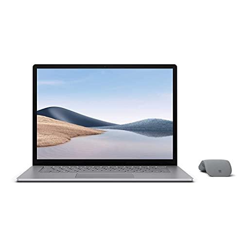 【Microsoft ストア限定】2点セット: Surface Laptop 4 15インチ(AMD Ryzen 7 / 8GB / 256GB / プラチナ) + Surface Arc Mouse グレー