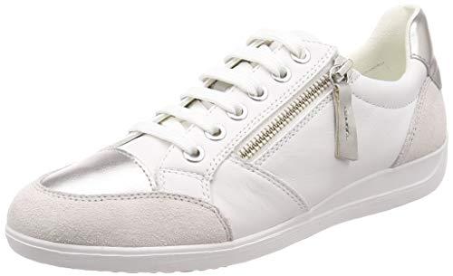 Geox D Myria B, Zapatillas Mujer, Blanco (White C1001), 37 EU
