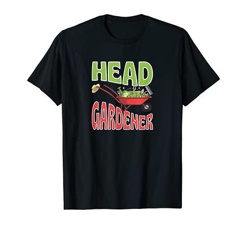 Head Gardener Cute Summer Wheelbarrow Vegetable Garden T-Shirt