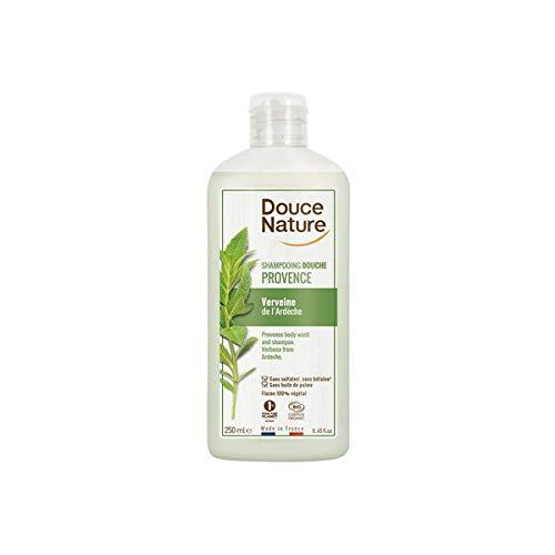 Douce Nature CHAMPU-Gel DE Ducha Verbena 250ml, Negro, Estandar