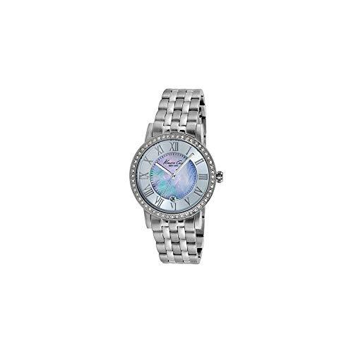 Kenneth Cole Damen Analog Quarz Uhr mit Edelstahl Armband IKC4973_NACAR