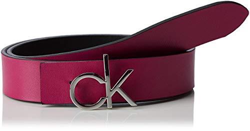 Calvin Klein Damen 3CM CK REV.GIFTPACK Gürtel, Schwarz (Black & Magenta 910), 6631 (Herstellergröße: 85)