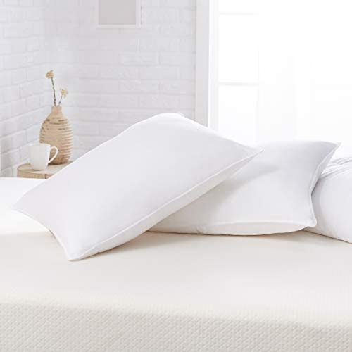 Amazon Basics Down Alternative Bed Pillows Firm Density Standard 2 Pack product image
