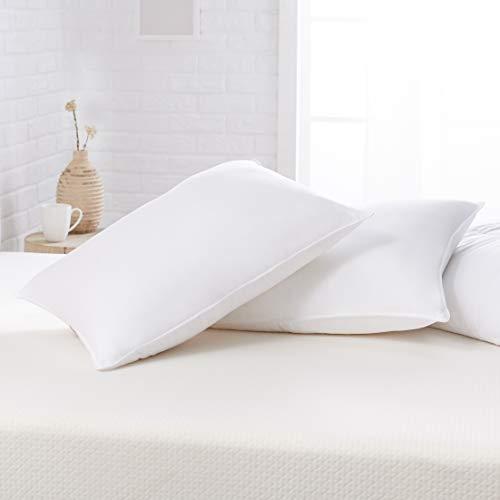 Amazon Basics Down Alternative Bed Pillows - Firm Density, Standard, 2-Pack