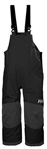 Helly Hansen Kids & Baby Rider 2 Bib Waterproof Insulated Winter Snow Pant Overalls, 990 Black, Size 12