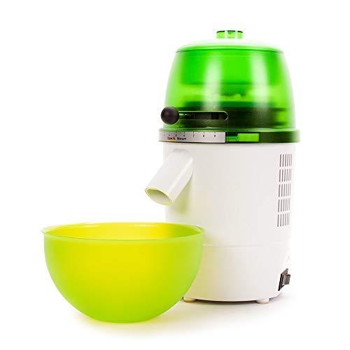 hawos Novum (Farbe: Grün) - Elektrische Getreidemühle mit 360W Leistung in Formschönem Makrolon Kunsstoffgehäuse der Firma hawos Kornmühlen GmbH