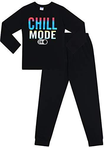 The Pyjama Factory Boys Chill Mode Gaming Cotton Long Pyjamas Black 13 14 Years