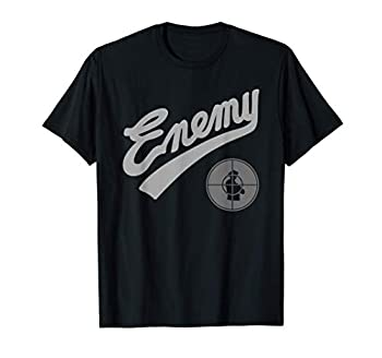 Public Enemy Official Enemy Target Black & Grey T-Shirt