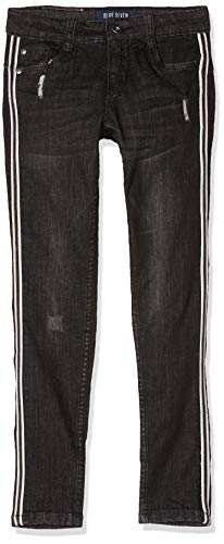Blue Seven Mädchen Destroyed Jeans, Grau (Dk Grau Orig 980), (Herstellergröße: 146)