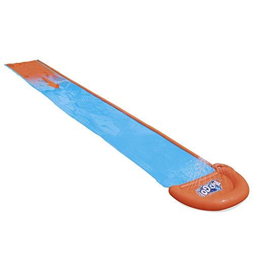 Bestway H20GO Single Water Slide, 4.88 m Inflatable Slip and Slide with Built-In Sprinklers