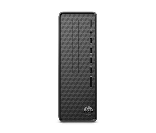 HP Slim Desktop Tower PC - Intel Celeron J4025 (2 Core), 1 TB HDD, 4 GB RAM, Wired Keyboard and Mouse Supplied, Jet black