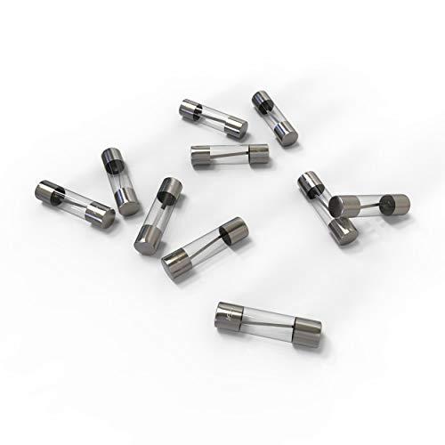 AUPROTEC Glassicherung 5x20mm Feinsicherung 1A - 20A Schmelzsicherung Auswahl: 16A Ampere, 10 Stück