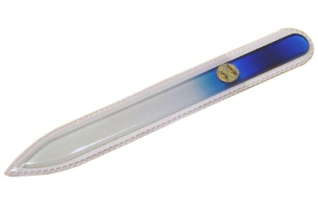 医療過誤フック目の前のブラジェク ガラス爪やすり 140mm 片面タイプ(ブルーグラデーション #02)